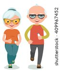 mature couple engaged... | Shutterstock .eps vector #409967452
