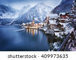 Winter View Of Hallstatt ...