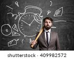 businessman with bat and with... | Shutterstock . vector #409982572