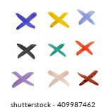 the crosses with different... | Shutterstock . vector #409987462
