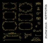set design elements. ornamental ...   Shutterstock .eps vector #409993906