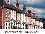 row of typical english terraced ... | Shutterstock . vector #409994218