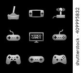 video games icon set with... | Shutterstock . vector #409995832