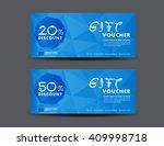 blue discount voucher template  ...   Shutterstock .eps vector #409998718