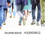 crowd walking on street   Shutterstock . vector #410003812