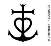 Camargue Cross Anchored Heart...