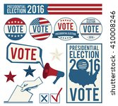 elections. signs of voting....   Shutterstock .eps vector #410008246
