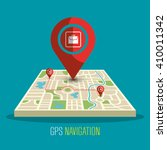 gps navigation design  | Shutterstock .eps vector #410011342