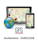 gps navigation design  | Shutterstock .eps vector #410011528