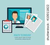 health technology design  | Shutterstock .eps vector #410011822