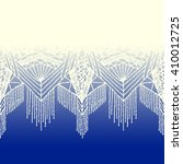 isolated crocheted lace border... | Shutterstock .eps vector #410012725