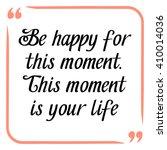 happiness quote. handwritten...   Shutterstock .eps vector #410014036