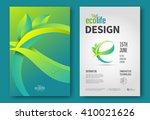 eco brochure design vector... | Shutterstock .eps vector #410021626