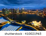 singapore view with urban... | Shutterstock . vector #410021965