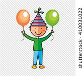 happy children on  party design  | Shutterstock .eps vector #410031022