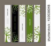 set of horizontal banners with... | Shutterstock .eps vector #410038048