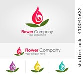 vector abstract flower for logo ... | Shutterstock .eps vector #410045632