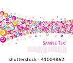 seamless circle pattern vector | Shutterstock .eps vector #41004862