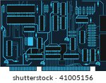 black and blue circuit board | Shutterstock .eps vector #41005156