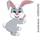 illustration of cute rabbit... | Shutterstock . vector #410052202