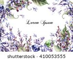 beautiful watercolor card with... | Shutterstock . vector #410053555