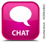 chat pink square button | Shutterstock . vector #410061862
