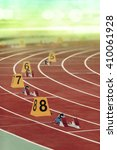 starting block in track and... | Shutterstock . vector #410061928