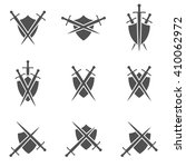 set of abstract icons   shield... | Shutterstock .eps vector #410062972