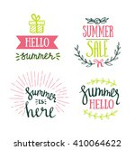 hand drawn summer lettering for ... | Shutterstock .eps vector #410064622