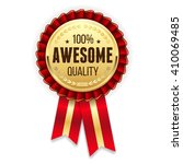 gold awesome  quality badge  ... | Shutterstock .eps vector #410069485