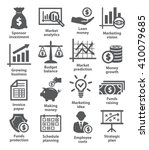 business economic icons | Shutterstock .eps vector #410079685