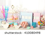 candy bar at birthday party | Shutterstock . vector #410080498
