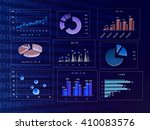 graph and data | Shutterstock . vector #410083576