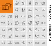 car dashboard vector icons set  | Shutterstock .eps vector #410085118