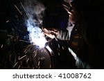 the expert works with electric... | Shutterstock . vector #41008762