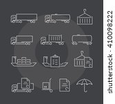 logistics thin line icons set.... | Shutterstock .eps vector #410098222