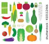 illustration with vegetables.... | Shutterstock .eps vector #410112466
