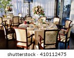 beautiful wedding restaurant...   Shutterstock . vector #410112475
