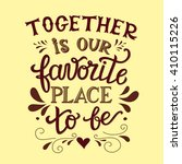 hand lettering typography... | Shutterstock .eps vector #410115226
