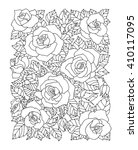 Roses Flowers  Floral Pattern....