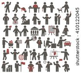 people. set of icons. business... | Shutterstock .eps vector #410122045