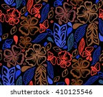 floral pattern to fit the needs ... | Shutterstock .eps vector #410125546