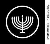 menorah symbol . vector...   Shutterstock .eps vector #410130502