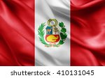 peru flag of silk  | Shutterstock . vector #410131045