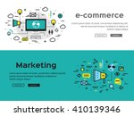 e commerce concept. marketing... | Shutterstock .eps vector #410139346
