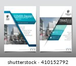 blue annual report brochure... | Shutterstock .eps vector #410152792