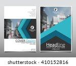 blue arrow annual report...   Shutterstock .eps vector #410152816
