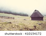 Lonely Wooden House In The...