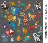 cartoon doodle animals big set | Shutterstock .eps vector #410166016