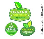 set of organic bio labels on... | Shutterstock .eps vector #410167882